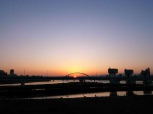淀川河川敷・毛馬閘門