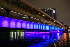 天満橋のライトアップ