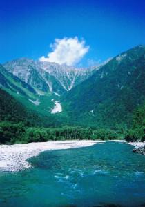 上高地と梓川