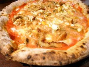 穴子のピザ