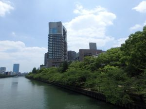 桜ノ宮 源八橋からの景色