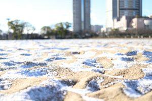 桜ノ宮ビーチ 雪