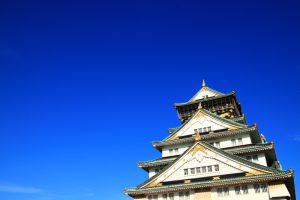 青空と大阪城