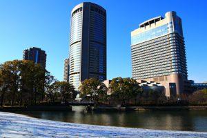 雪の大阪ふれあいの水辺